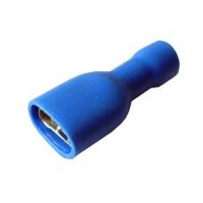 Клемма провода 6,3 (мама) в изоляции REXANT синяя